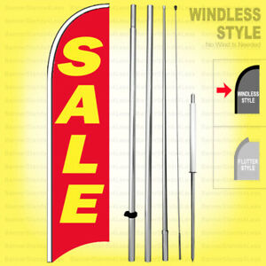 Sale Windless Swooper Flag Kit 15 Feather Banner Sign Rb h
