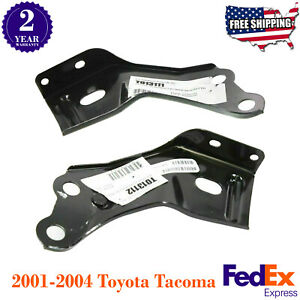 Set Of 2 Front Bumper Brackets Left Right Hand Side For 2001 04 Toyota Tacoma