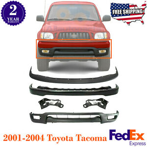 Front Bumper Primed Steel Filler Valance Brackets For 01 2004 Toyota Tacoma