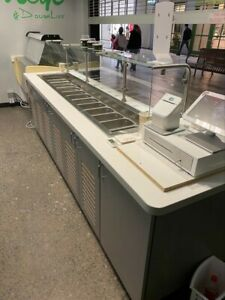 Cold Food Well Unit Drop in Refrigerated With Counter sneeze Guard