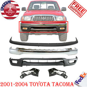 Front Bumper Chrome Filler Primed Valance Brk For 2001 2004 Toyota Tacoma