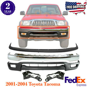 Front Bumper Chrome Filler Lower Valance Brackets For 2001 04 Toyota Tacoma