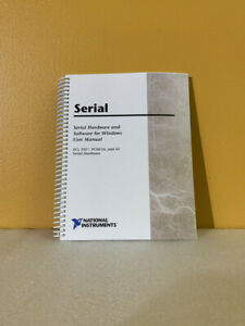 National Instruments 322983a 01 Serial Hardware Software For Windows Manual