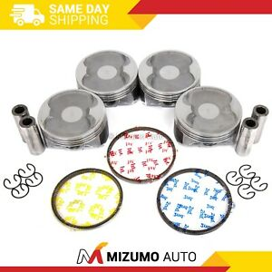 Pistons W Rings Fit 06 10 Subaru Legacy Forester Outback 2 5 Sohc Ej253
