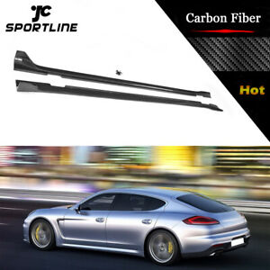 For Porsche Panamera Hatchback 2014 2016 Side Skirts Body Kit Fit Carbon Fiber