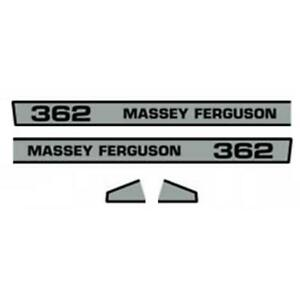 Hood Decal Set For Massey Ferguson 362 Mf Tractor New Aftermarket Replacement