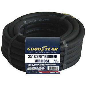 Goodyear Air Hose 12187 Black Rubber Air Hose 25 X 3 8 Weather Oil And Solvent R