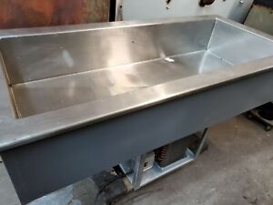 Drop in Refrigerator Cold Well Pan Self contained 3 Recessed Made In Usa