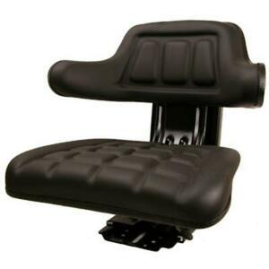 W222bl Universal Tractor Seat Black Fits Ford 2000 3000 4000 5000 More