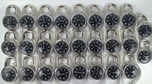 Lot Of 26 Master Lock Combination Locker Style Locks With Combinations