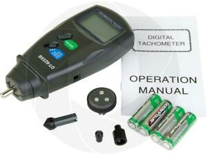 Dt6235b Digital Photo Contact Tachometer Rpm Meter Surface Speed Meter W Case