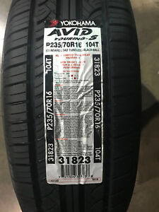 2 New 235 70 16 Yokohama Avid Touring S Tires
