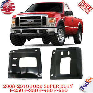 Front Bumper Mounting Plate Brackets For 2008 2010 Ford Super Duty F 250 F 350