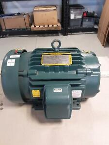 new Baldor 15 H p Electric Motor 575 Volt Super e Severe Duty 1765 Rpm