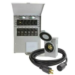 Transfer Switch Kit 30 Amp 250 volt 7500 watt 6 circuit Non fuse On off Switch