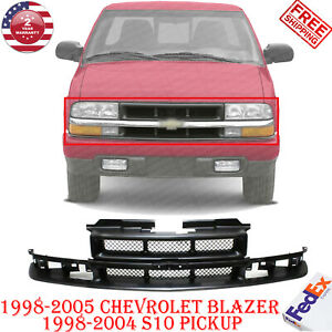 Front Grille Black Shell For 1998 2005 Chevy Blazer 1998 2004 S10 Pickup