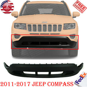 Front Bumper Lower Cover Textured W Tow Hook Holes For 2011 2017 Jeep Compass
