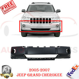 Front Bumper Cover Primed With Fog Light Holes For 2005 2007 Jeep Grand Cherokee