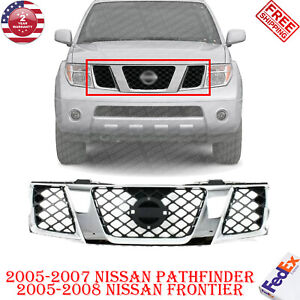 Front Grille Chrome Shell For 2005 2007 Nissan Pathfinder 2005 2008 Frontier