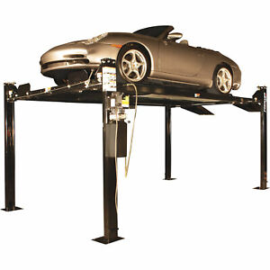 Forward Lift 4 post Truck And Car Lift 8000 Lb Capacity Black Model Efp8p000m
