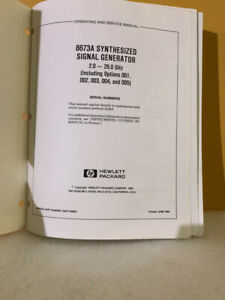 Hp 068673 90003 8673a Synthesized Signal Generator Operating And Service Manual