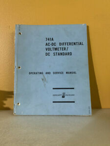 Hp 00741 90000 741a Ac dc Differential Voltmeter dc Standard Ops service Manual