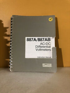 Fluke 294256 887a 887ab Ac dc Differential Voltmeters Instruction Manual