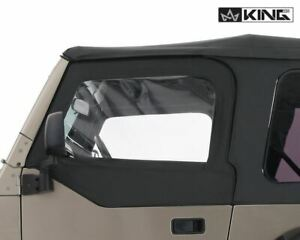 King Upper Door Skins Black Dia Driver Passenger Side Jeep Wrangler Tj 97 06