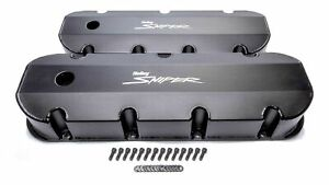 Holley Sniper Fabricated Valve Covers Bbc Tall 890004b