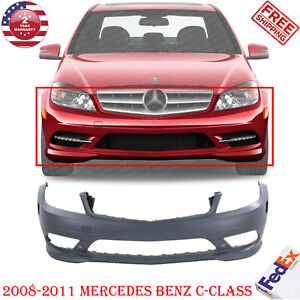 Front Bumper Cover Primed For 2008 2011 Mercedes Benz C Class 230 300 350