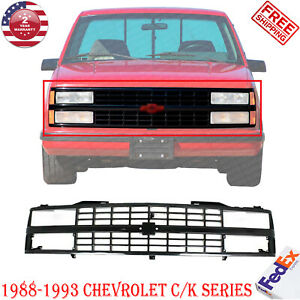 Front Grille W Dual Headlight Holes Plastic For 1988 1993 Chevrolet C k Series