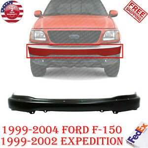 Front Bumper Primed Steel W Pad Holes For 99 2004 Ford F 150 Expedition 99 02