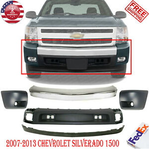 Front Bumper Ends Valance Extension For 2007 2008 Chevy Silverado 1500