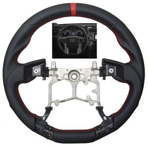 Revesol Sports Leather Steering Wheel For 2010 2019 Toyota 4runner Trd Tundra