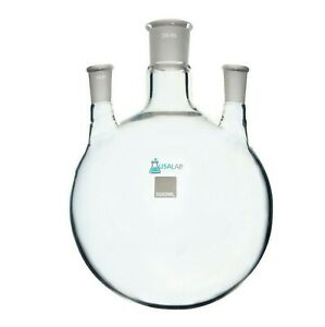 5l Round Bottom Receiving Flask 3 Neck 2 24 40 And 34 45 Center