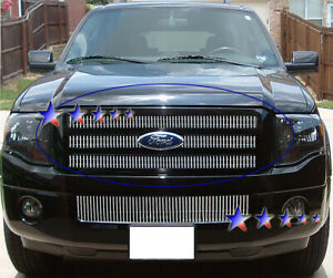 Billet Grille Insert 2007 2010 Ford Expedition Main Upper Aluminum Grilles Grill