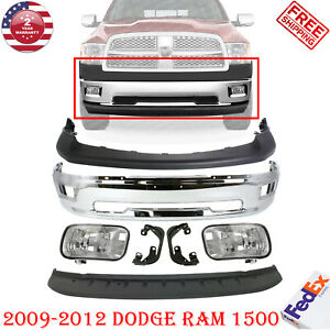Front Bumper Chrome Steel Kit Valance Cover For 2009 2012 Dodge Ram 1500
