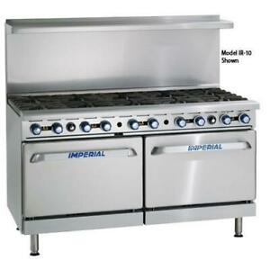 Imperial Ir 12 cc 72 In 12 burner Gas Range W Convection Ovens