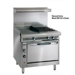 Imperial Ir 2 g24 c 36 In 2 burner Gas Range W Griddle And Convectio