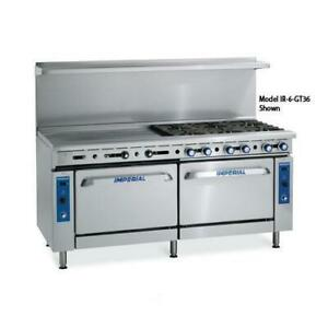 Imperial Ir 2 g60 72 In 2 burner Gas Range W Griddle And Standard Ovens