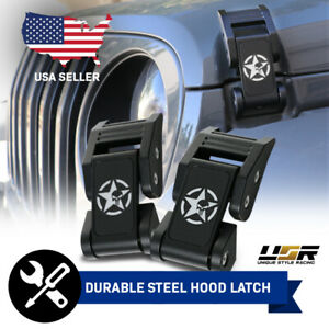 Punisher Skull Metal Construct Hood Latch Locking Catch Buckle For Wrangler Jk