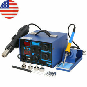 2in1 Smd Rework Soldering Station Hot Air Gun And Soldering Iron Separately