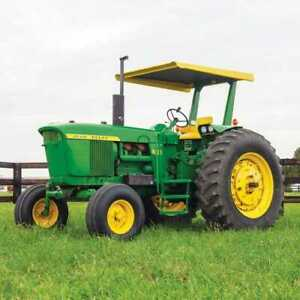 Tractor Canopy And Certified Rops Metal Compatible With John Deere 4020 3020