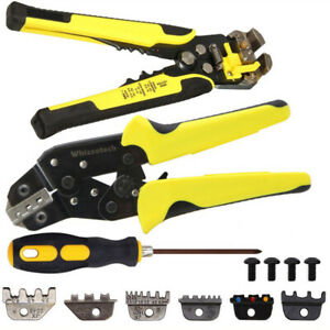 4 in 1 Ratcheting Wire Terminal Crimpers Crimping Pliers Cord End Terminals Tool