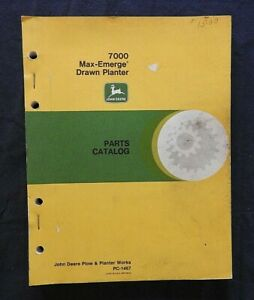 John Deere 7000 4 6 8 12 Row Narrow Wide Drawn Max emerge Planter Parts Catalog