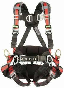 Msa Evotech Tower Harness 3 D ring Harness With Padding 10112765