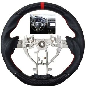Revesol Sports Leather Steering Wheel For 2013 2018 Nissan Altima Hydro Carbon