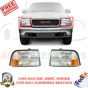 Front Head Lamps Rh Lh For 98 05 Gmc Jimmy Sonoma 98 01 Oldsmobile Bravada
