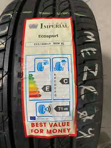 1 New 215 40 16 Imperial F105 Ecosport Tire