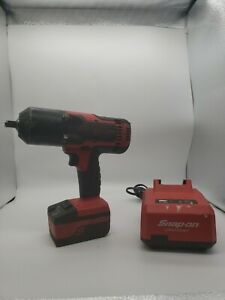 Snap on Tools Ct8850 1 2 Drive 18v Cordless Impact Wrench With Batt And Charger
